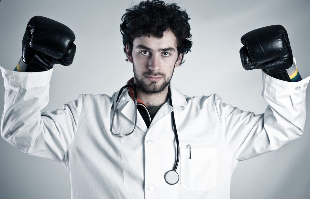 Physician Fighting Burnout